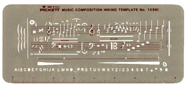 1299i Music Composition Inking Template
