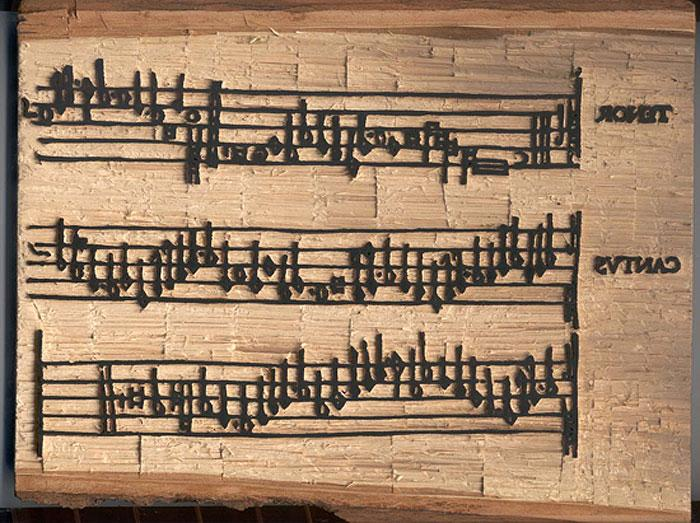 Gafurius: Practica Musicae, a closer look at the woodblock.